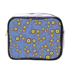 Circle Purple Yellow Mini Toiletries Bags by AnjaniArt