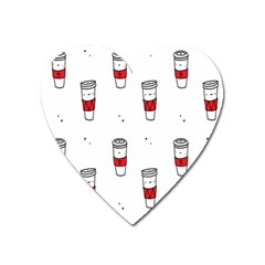 Coffee Cup Glass Heart Magnet