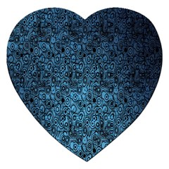 Blue Texture Jigsaw Puzzle (heart) by AnjaniArt