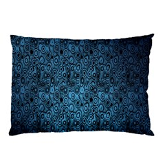 Blue Texture Pillow Case by AnjaniArt