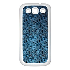 Blue Texture Samsung Galaxy S3 Back Case (white)