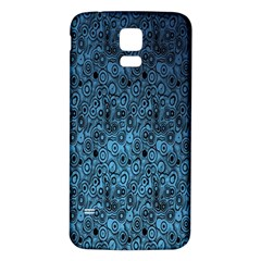 Blue Texture Samsung Galaxy S5 Back Case (white) by AnjaniArt