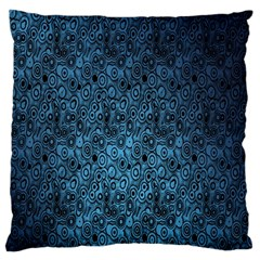 Blue Texture Standard Flano Cushion Case (one Side)