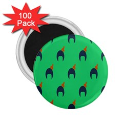 Comb Disco Green 2 25  Magnets (100 Pack)  by AnjaniArt