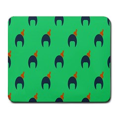 Comb Disco Green Large Mousepads by AnjaniArt