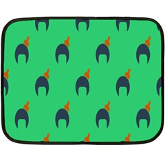 Comb Disco Green Fleece Blanket (mini) by AnjaniArt