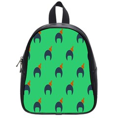 Comb Disco Green School Bags (small)  by AnjaniArt