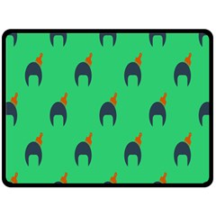 Comb Disco Green Double Sided Fleece Blanket (large)  by AnjaniArt