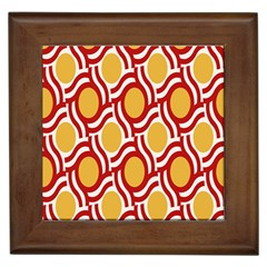 Circle Orange Red Framed Tiles by AnjaniArt