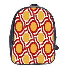 Circle Orange Red School Bags (xl)  by AnjaniArt