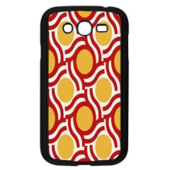 Circle Orange Red Samsung Galaxy Grand Duos I9082 Case (black) by AnjaniArt