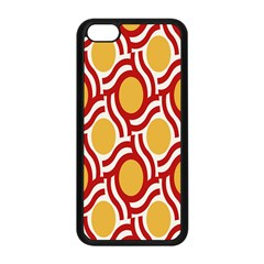 Circle Orange Red Apple Iphone 5c Seamless Case (black) by AnjaniArt