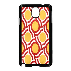 Circle Orange Red Samsung Galaxy Note 3 Neo Hardshell Case (black) by AnjaniArt
