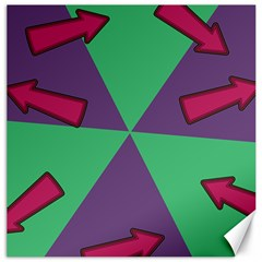 Daily Spinner Signpost Canvas 12  X 12   by AnjaniArt