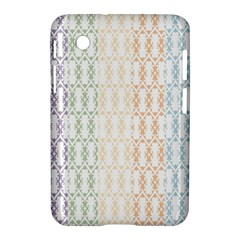 Digital Print Scrapbook Flower Leaf Color Green Purple Blue Pink Brown Samsung Galaxy Tab 2 (7 ) P3100 Hardshell Case  by AnjaniArt