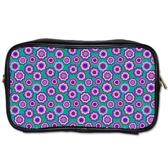 Clipart Floral Pattern Flower Purple Green Toiletries Bags