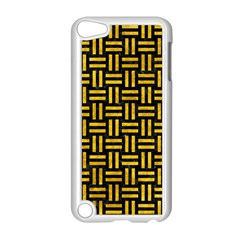 Woven1 Black Marble & Yellow Marble Apple Ipod Touch 5 Case (white) by trendistuff