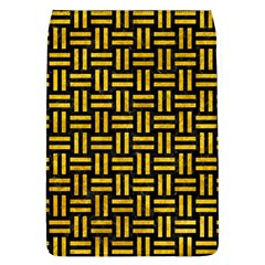 Woven1 Black Marble & Yellow Marble Removable Flap Cover (l) by trendistuff