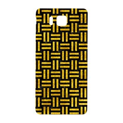 Woven1 Black Marble & Yellow Marble Samsung Galaxy Alpha Hardshell Back Case by trendistuff