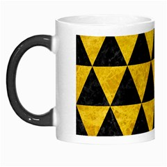 Triangle3 Black Marble & Yellow Marble Morph Mug