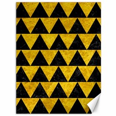 Triangle2 Black Marble & Yellow Marble Canvas 36  X 48  by trendistuff