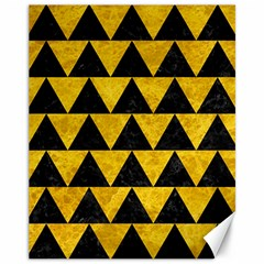 Triangle2 Black Marble & Yellow Marble Canvas 11  X 14  by trendistuff