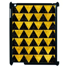 Triangle2 Black Marble & Yellow Marble Apple Ipad 2 Case (black) by trendistuff
