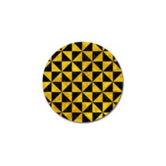 Triangle1 Black Marble & Yellow Marble Golf Ball Marker (4 Pack) by trendistuff