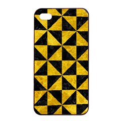 Triangle1 Black Marble & Yellow Marble Apple Iphone 4/4s Seamless Case (black) by trendistuff