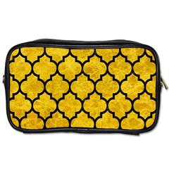 Tile1 Black Marble & Yellow Marble (r) Toiletries Bag (two Sides) by trendistuff