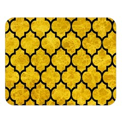 Tile1 Black Marble & Yellow Marble (r) Double Sided Flano Blanket (large) by trendistuff