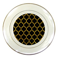 Tile1 Black Marble & Yellow Marble Porcelain Plate by trendistuff