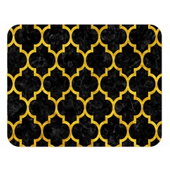Tile1 Black Marble & Yellow Marble Double Sided Flano Blanket (large) by trendistuff