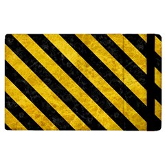 Stripes3 Black Marble & Yellow Marble (r) Apple Ipad 2 Flip Case by trendistuff