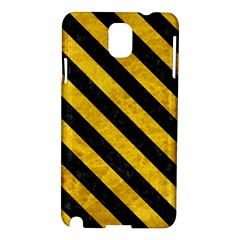 Stripes3 Black Marble & Yellow Marble (r) Samsung Galaxy Note 3 N9005 Hardshell Case by trendistuff