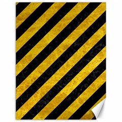 Stripes3 Black Marble & Yellow Marble Canvas 18  X 24  by trendistuff