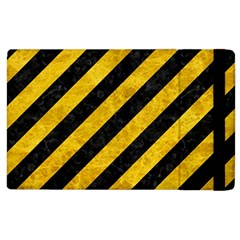 Stripes3 Black Marble & Yellow Marble Apple Ipad 3/4 Flip Case by trendistuff