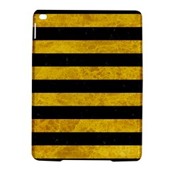 Stripes2 Black Marble & Yellow Marble Apple Ipad Air 2 Hardshell Case by trendistuff