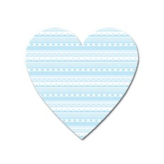 Estampas Pinterest Nautical Digital Scrapbooking Wallpaper Heart Magnet by AnjaniArt