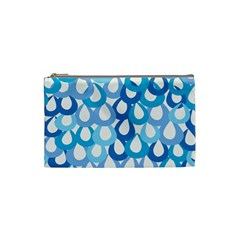 Fabrics Lucienne Blue Water Cosmetic Bag (small)