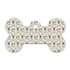 Face Dok Bone Numberpink Animals Dog Tag Bone (two Sides)