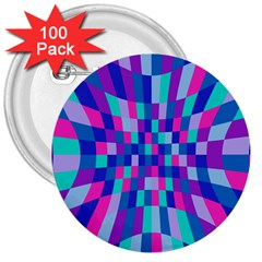 Flag Color 3  Buttons (100 Pack)