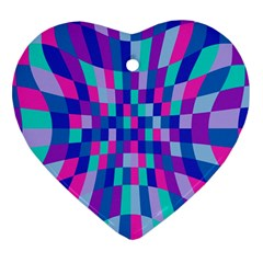 Flag Color Heart Ornament (two Sides) by AnjaniArt