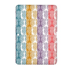 Digital Print Scrapbook Flower Leaf Color Green Red Purple Yellow Blue Pink Samsung Galaxy Tab 2 (10 1 ) P5100 Hardshell Case  by AnjaniArt