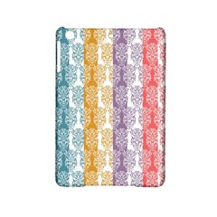 Digital Print Scrapbook Flower Leaf Color Green Red Purple Yellow Blue Pink Ipad Mini 2 Hardshell Cases