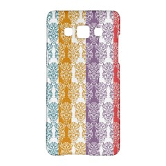 Digital Print Scrapbook Flower Leaf Color Green Red Purple Yellow Blue Pink Samsung Galaxy A5 Hardshell Case  by AnjaniArt
