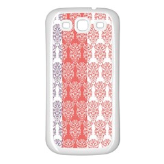 Digital Print Scrapbook Flower Leaf Color Green Red Purple Blue Pink Samsung Galaxy S3 Back Case (white)