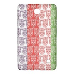 Digital Print Scrapbook Flower Leaf Color Green Red Purple Blue Pink Samsung Galaxy Tab 4 (7 ) Hardshell Case  by AnjaniArt