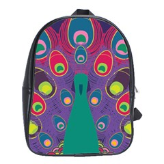 Colorful Peacock Line School Bags(large)
