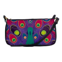Colorful Peacock Line Shoulder Clutch Bags